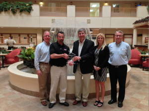 Pinnacle Express receives 2013 Vent-A-Hood Sales Award. Pictured from left to right: David Savant, Pinnacle Express Executive Vice President; Pete Ronco, Pinnacle Express Executive Vice President of Sales; Mark Klein, Vent-A-Hood Director of Sales; Tiffany Collins, Pinnacle Express Manager, Customer Service and Marketing; Ron Avery, Pinnacle Express President.