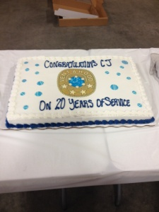 CJ's 20 year cake