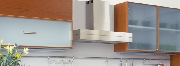 Contemporary kitchen with stainless steel and wood units